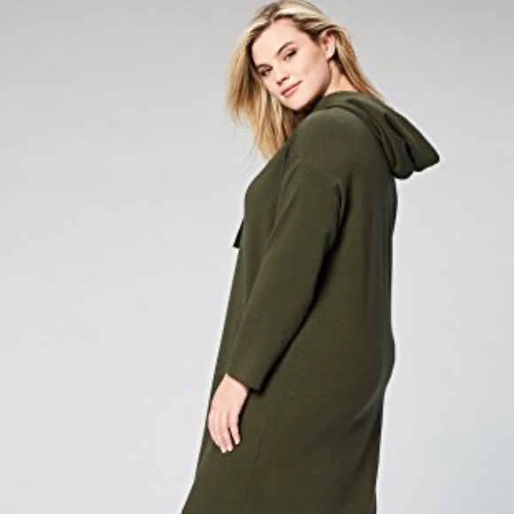 New hoodie dress Plus size 3X long sleeve olive
